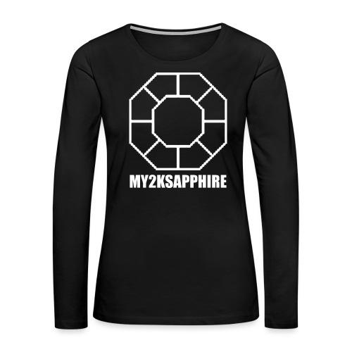 Unisex White Sapphire Hoodie - Women's Premium Long Sleeve T-Shirt