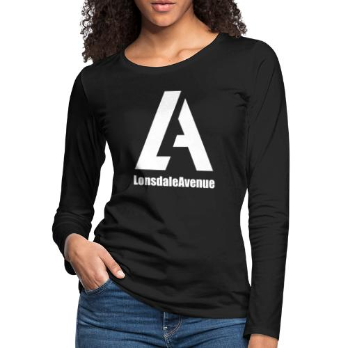 Lonsdale Avenue Logo White Text - Women's Premium Slim Fit Long Sleeve T-Shirt