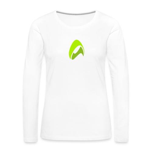 New Logo AirConsole White - Women's Premium Slim Fit Long Sleeve T-Shirt