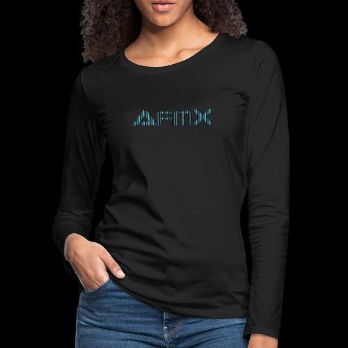 AfimX Logo Design - Women's Premium Slim Fit Long Sleeve T-Shirt