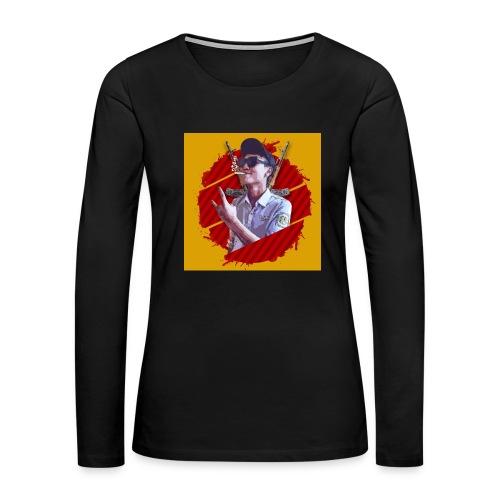 smoke - Women's Premium Slim Fit Long Sleeve T-Shirt