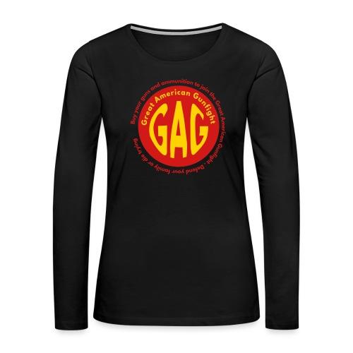 Great American Gunfight - Women's Premium Slim Fit Long Sleeve T-Shirt