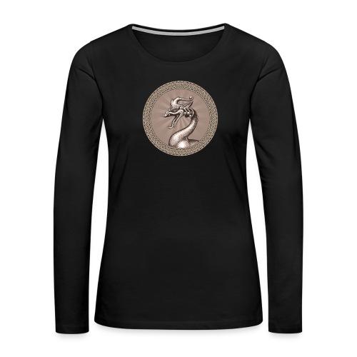 Laughing Dragon - Women's Premium Slim Fit Long Sleeve T-Shirt