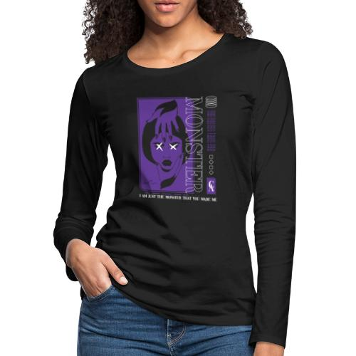 Monster - Women's Premium Slim Fit Long Sleeve T-Shirt
