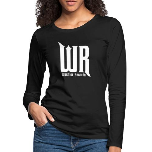 Wachler Records Light Logo - Women's Premium Slim Fit Long Sleeve T-Shirt