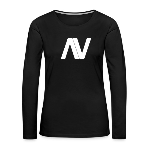 AviaryVision Logo (White) - Women's Premium Slim Fit Long Sleeve T-Shirt