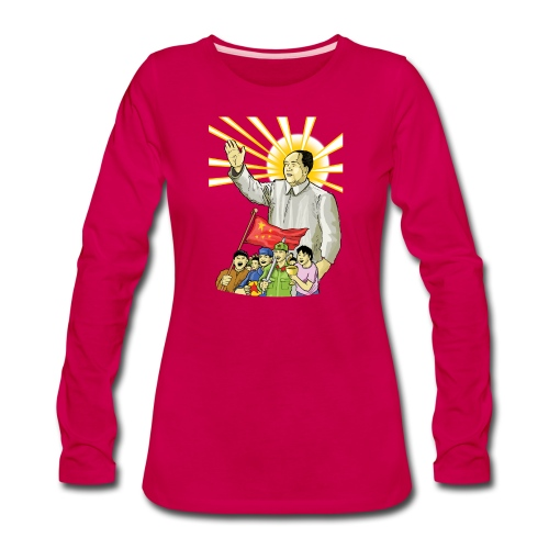 Mao Waves to the People - Women's Premium Long Sleeve T-Shirt