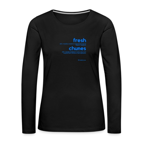 Clothing for All Urban Occasions (Blue) - Women's Premium Slim Fit Long Sleeve T-Shirt