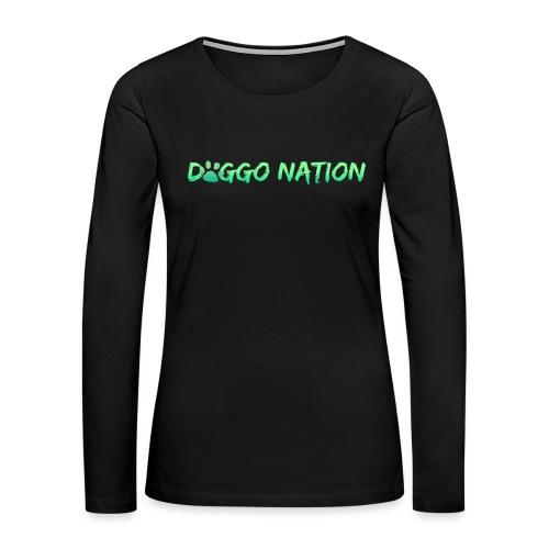 DoggoNation Logo - Women's Premium Long Sleeve T-Shirt