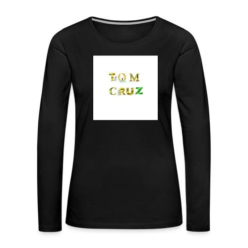Tom Cruz Logo - Women's Premium Slim Fit Long Sleeve T-Shirt