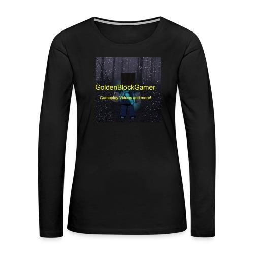 GoldenBlockGamer Tshirt - Women's Premium Long Sleeve T-Shirt