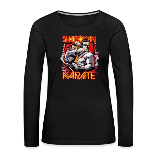 Shotokan Karate - Women's Premium Slim Fit Long Sleeve T-Shirt
