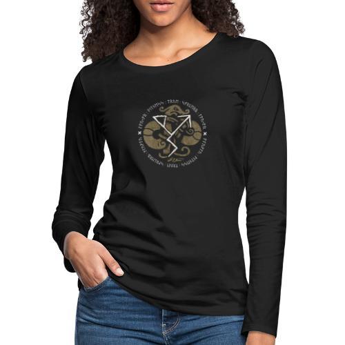 Witness True Sorcery Emblem (Alu, Alu laukaR!) - Women's Premium Slim Fit Long Sleeve T-Shirt