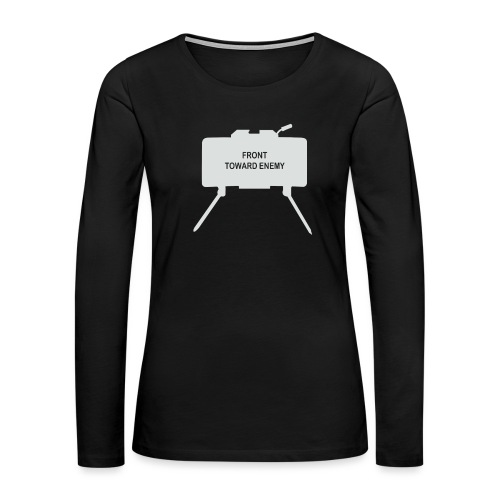 Claymore Mine (Minimalist/Light) - Women's Premium Slim Fit Long Sleeve T-Shirt