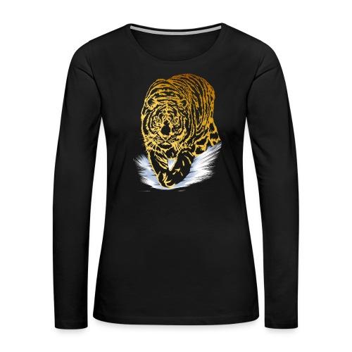 Golden Snow Tiger - Women's Premium Long Sleeve T-Shirt