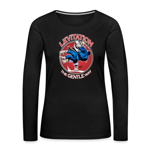 Judo Levitation for dark shirt - Women's Premium Slim Fit Long Sleeve T-Shirt