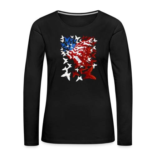 The Butterfly Flag - Women's Premium Long Sleeve T-Shirt
