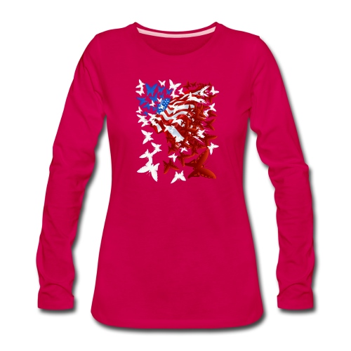 The Butterfly Flag - Women's Premium Long Sleeve T-Shirt