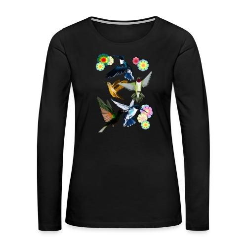 For The Love Of Hummingbirds - Women's Premium Long Sleeve T-Shirt