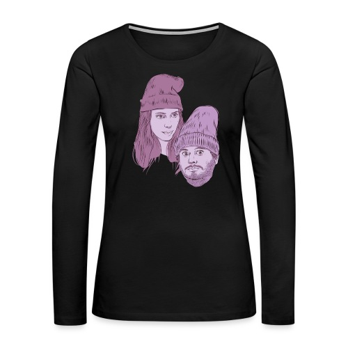 Hila and Ethan from h3h3productions - Women's Premium Slim Fit Long Sleeve T-Shirt