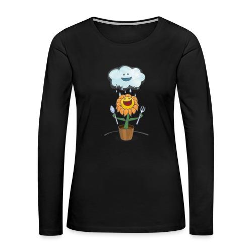 Cloud & Flower - Best friends forever - Women's Premium Slim Fit Long Sleeve T-Shirt