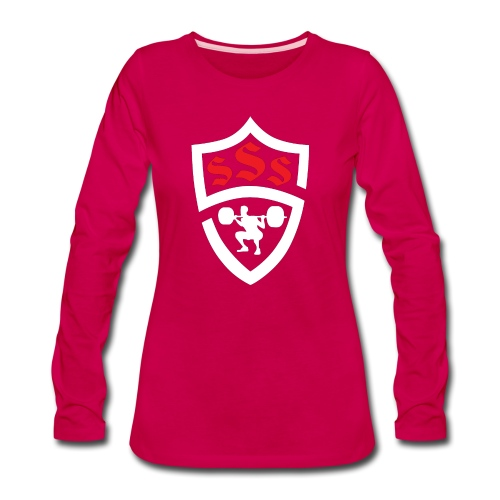 Logo Only White and Red - Women's Premium Long Sleeve T-Shirt