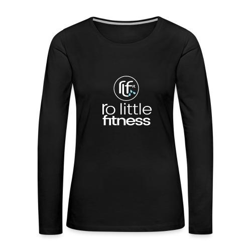 Ro Little Fitness - outline logo - Women's Premium Slim Fit Long Sleeve T-Shirt