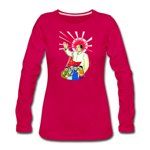 Mao Waves To His Supporters - Women's Premium Long Sleeve T-Shirt
