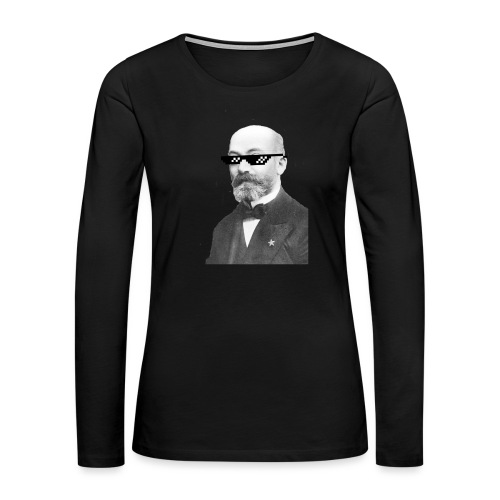 Zamenhof Shades (BW) - Women's Premium Long Sleeve T-Shirt