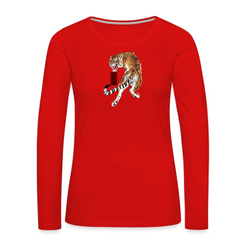Beta12 / Japanese Tiger - Women's Premium Long Sleeve T-Shirt