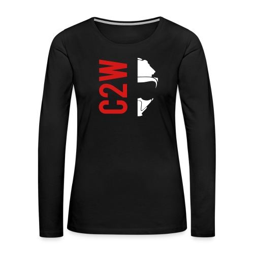 ChaseOnTwoWheels Split Logo - Women's Premium Long Sleeve T-Shirt