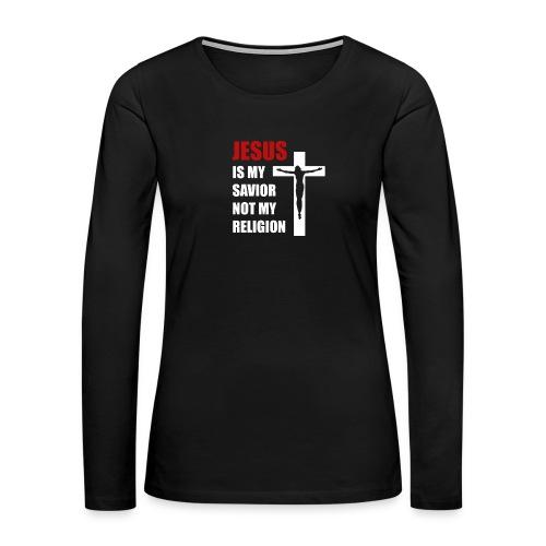 Jesus is my Savior Tee for men - Women's Premium Slim Fit Long Sleeve T-Shirt