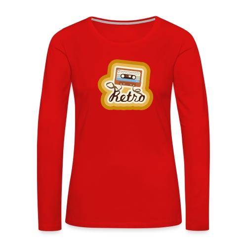 Retro-Cassette - Women's Premium Slim Fit Long Sleeve T-Shirt