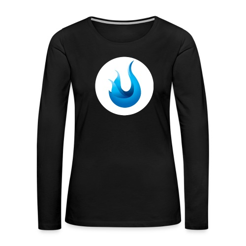 flame front png - Women's Premium Slim Fit Long Sleeve T-Shirt
