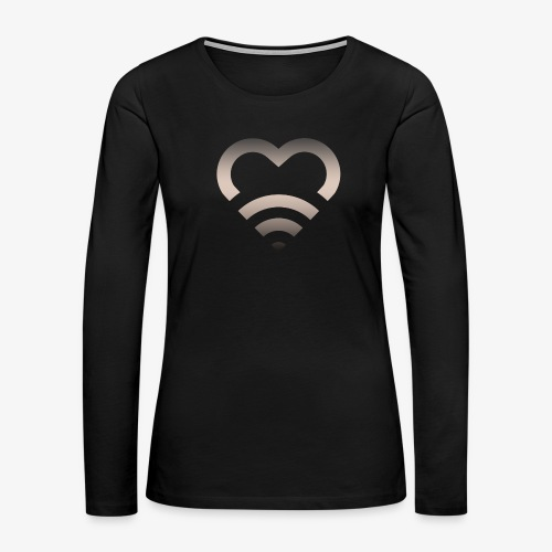 I Heart Wifi IPhone Case - Women's Premium Long Sleeve T-Shirt
