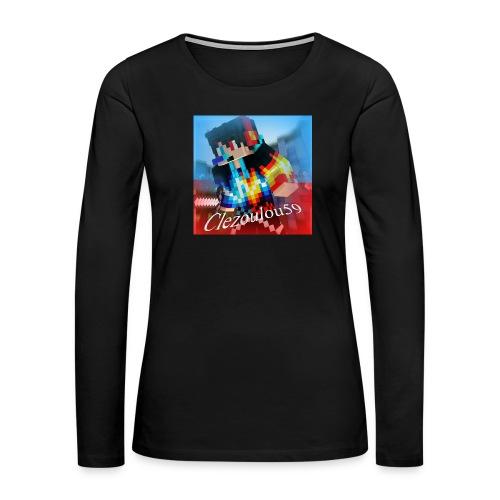 Logo Clezoulou59 2016-2017 - Women's Premium Long Sleeve T-Shirt