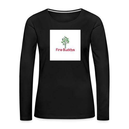 Fire Buddys Website Logo White Tee-shirt eco - Women's Premium Long Sleeve T-Shirt