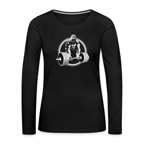 Gorilla Lifting Gym Fit - Women's Premium Slim Fit Long Sleeve T-Shirt