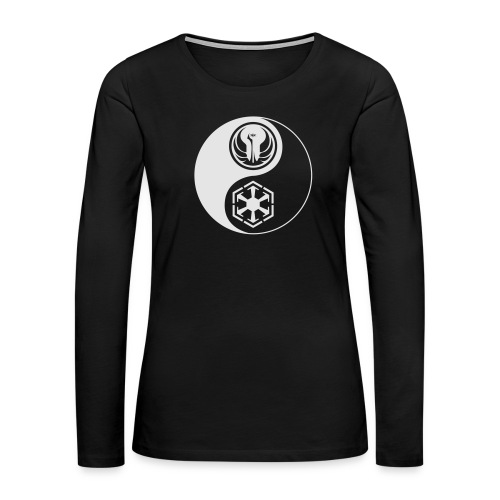 Star Wars SWTOR Yin Yang 1-Color Light - Women's Premium Slim Fit Long Sleeve T-Shirt