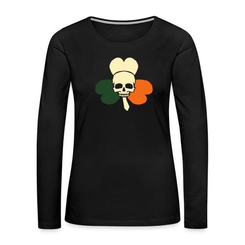 irish_skull_shamrock - Women's Premium Long Sleeve T-Shirt