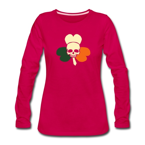 irish_skull_shamrock - Women's Premium Long Sleeve T-Shirt