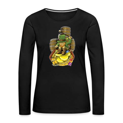 Angry Irish Leprechaun - Women's Premium Long Sleeve T-Shirt