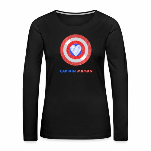 CAPTAIN MAMAN - Women's Premium Long Sleeve T-Shirt