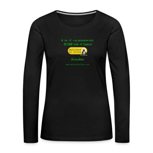 rm Linux Code of Conduct - Women's Premium Long Sleeve T-Shirt