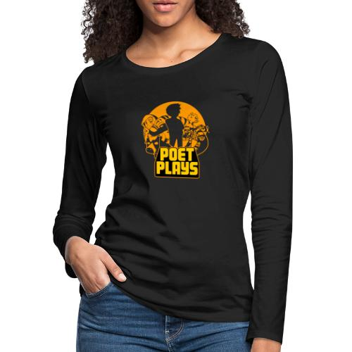 Poet Plays RETRO - Women's Premium Slim Fit Long Sleeve T-Shirt