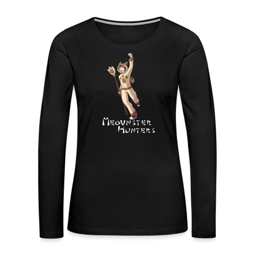 Meownster Hunters - Women's Premium Long Sleeve T-Shirt