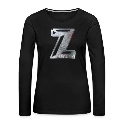 Zawles - metal logo - Women's Premium Slim Fit Long Sleeve T-Shirt