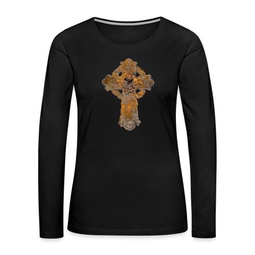 Cross_01PNG - Women's Premium Slim Fit Long Sleeve T-Shirt