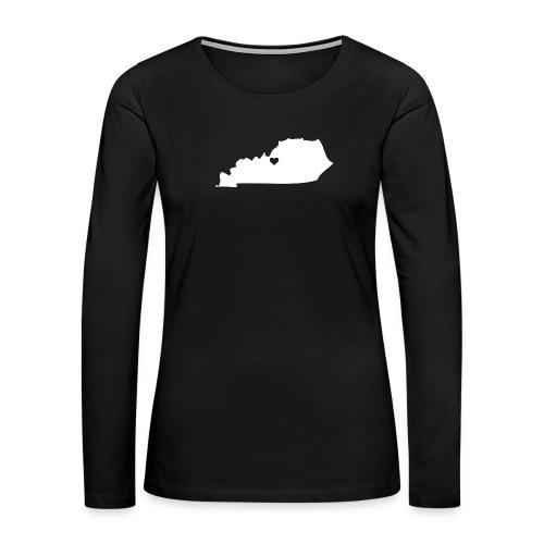 Kentucky Silhouette Heart - Women's Premium Long Sleeve T-Shirt