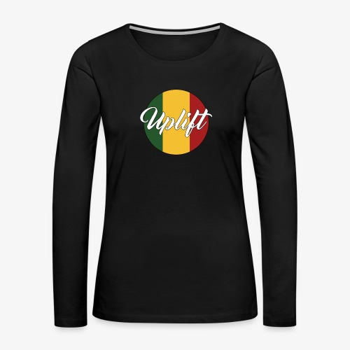 Uplift Rasta Basic // - Women's Premium Slim Fit Long Sleeve T-Shirt